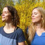 Eva Neumayer und Angela Cooper
