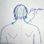 """Gallenblasen-Meridian: 21 """"Schulterbrunnen"""" (chinesisch: """"Jian Jing"""")"""