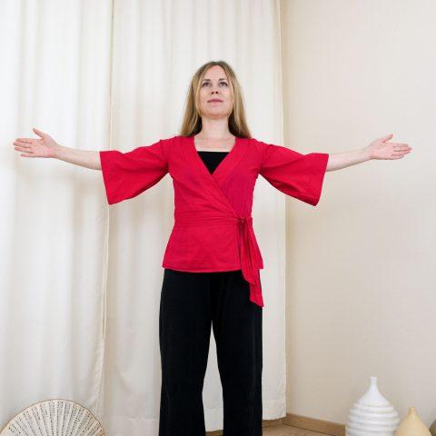 Qigong gegen Burnout nach Angela Cooper: Übung (Teil 1) für Phase 5
